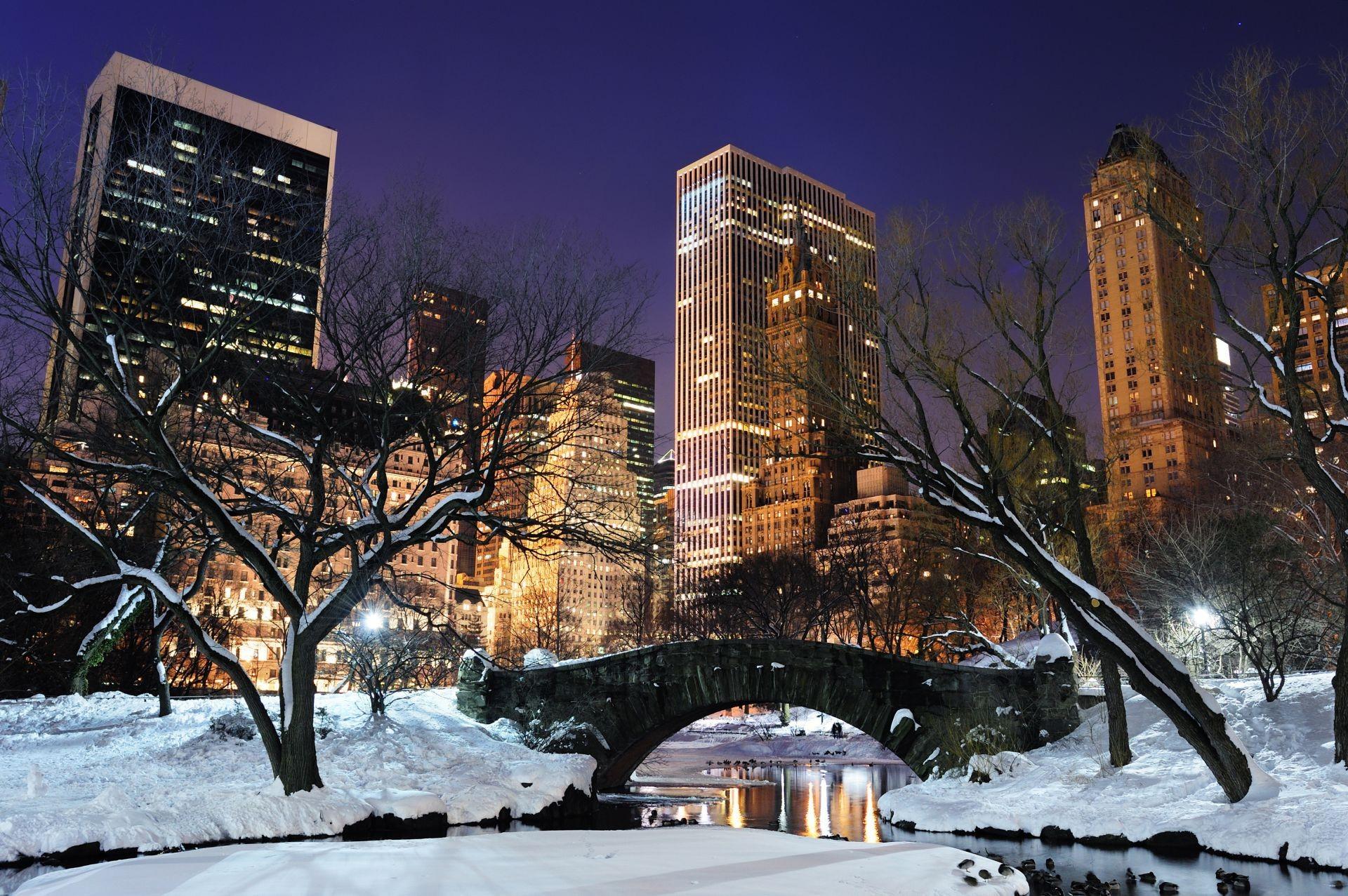 Зима нью йорке обои рабочий стол