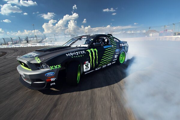 competition drift sportcar mustang clouds Ford gt smo