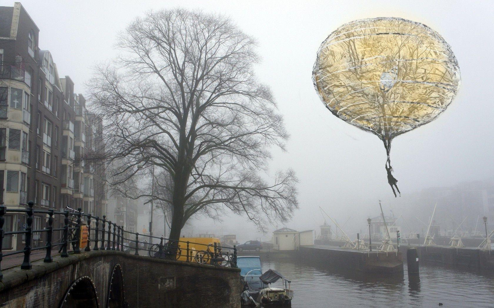 Обои туман. Города foto 14