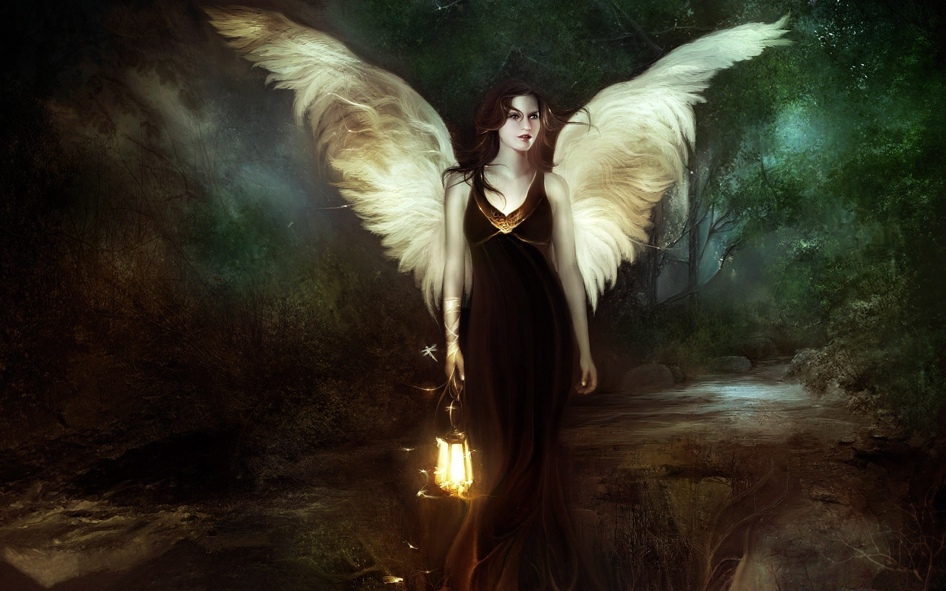 Обои на рабочий стол девушек ангелов