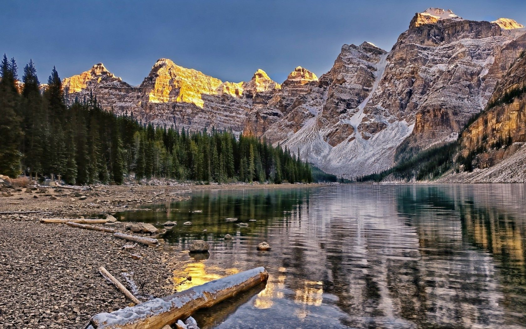 canada banff national park moraine lake valley of the ten