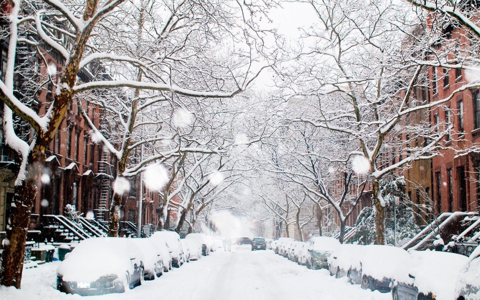 Обои snow, winter. Города foto 12
