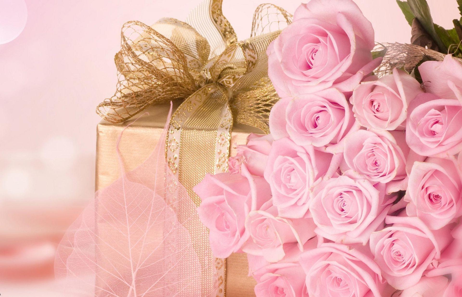 Подарок любовь розы букет цветы