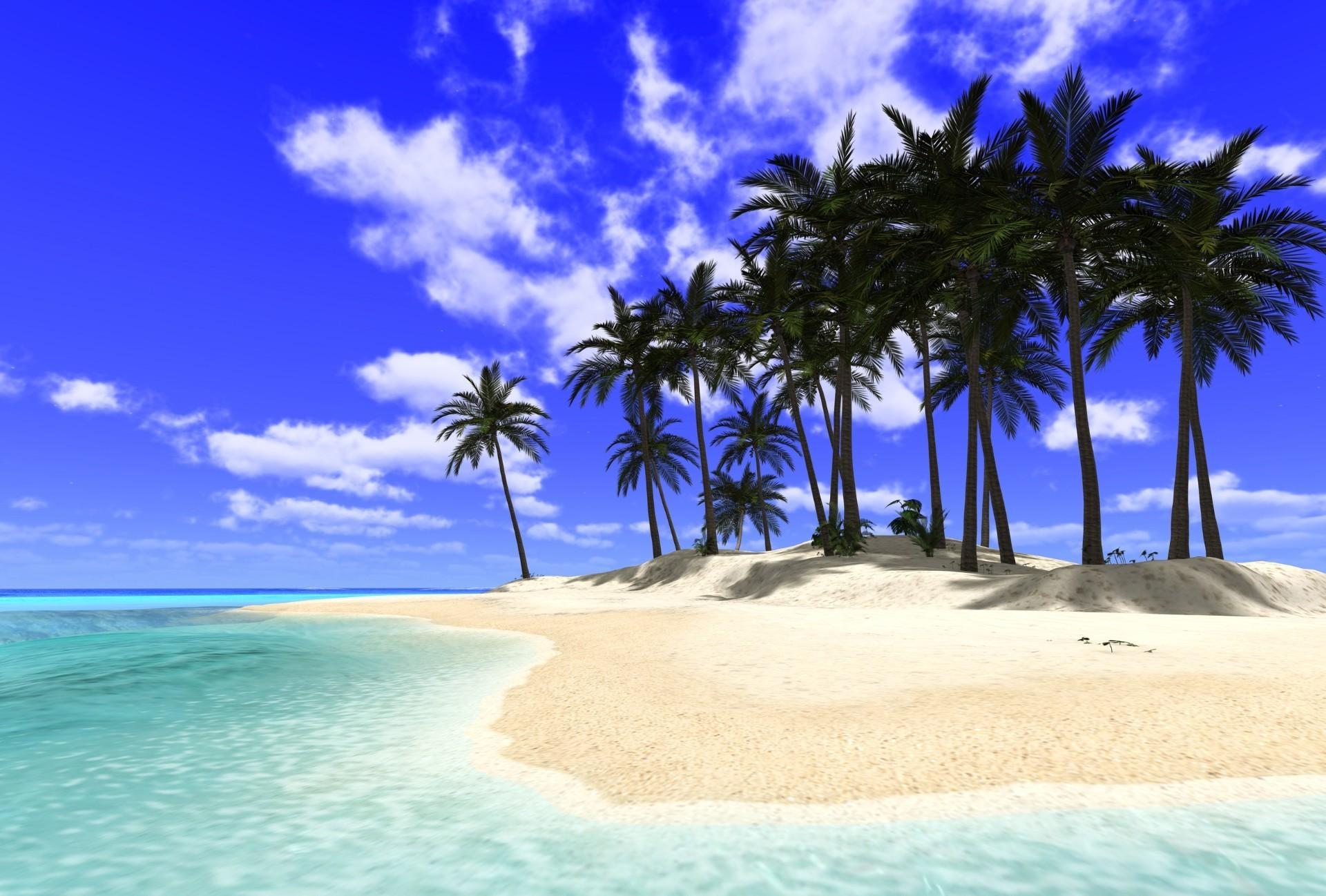 картинки на рабочий стол пальмы и острова