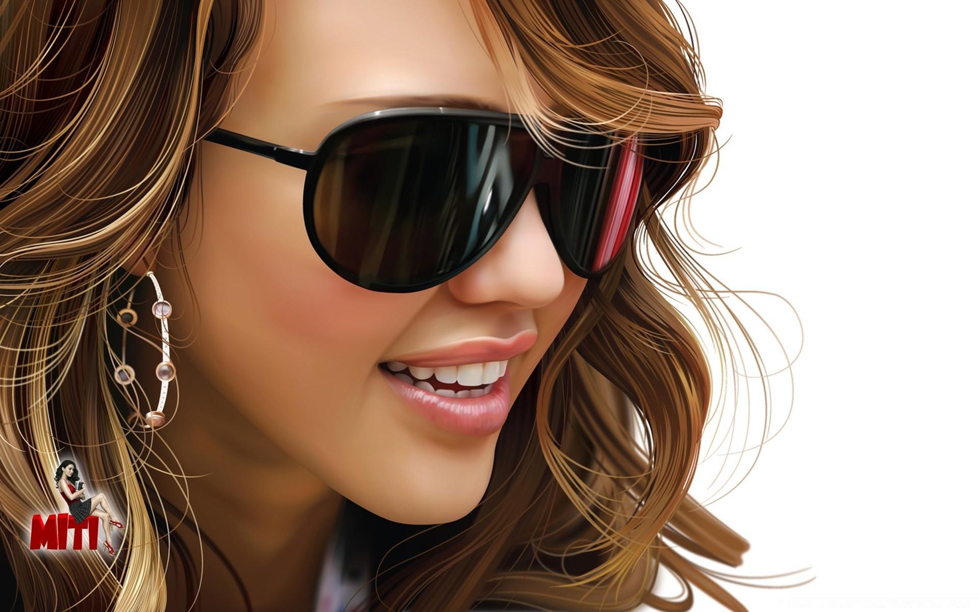 Картинки девушек в очках от солнца, копировать надпись картинки