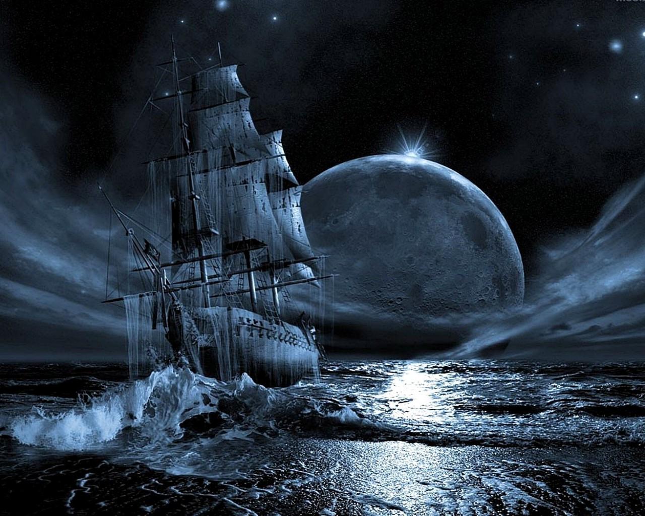 Корабль призрак - скачать обои на рабочий стол. Обои для ...