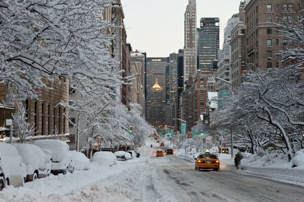 Usa new_york город winter city nyc