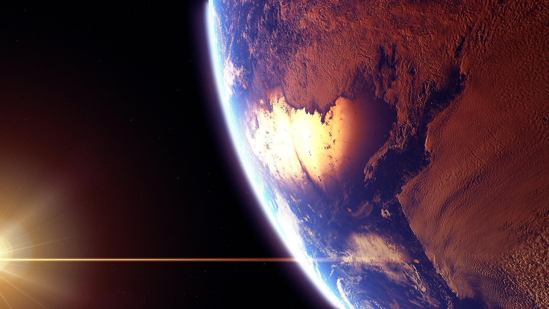 Фото земля солнце луна
