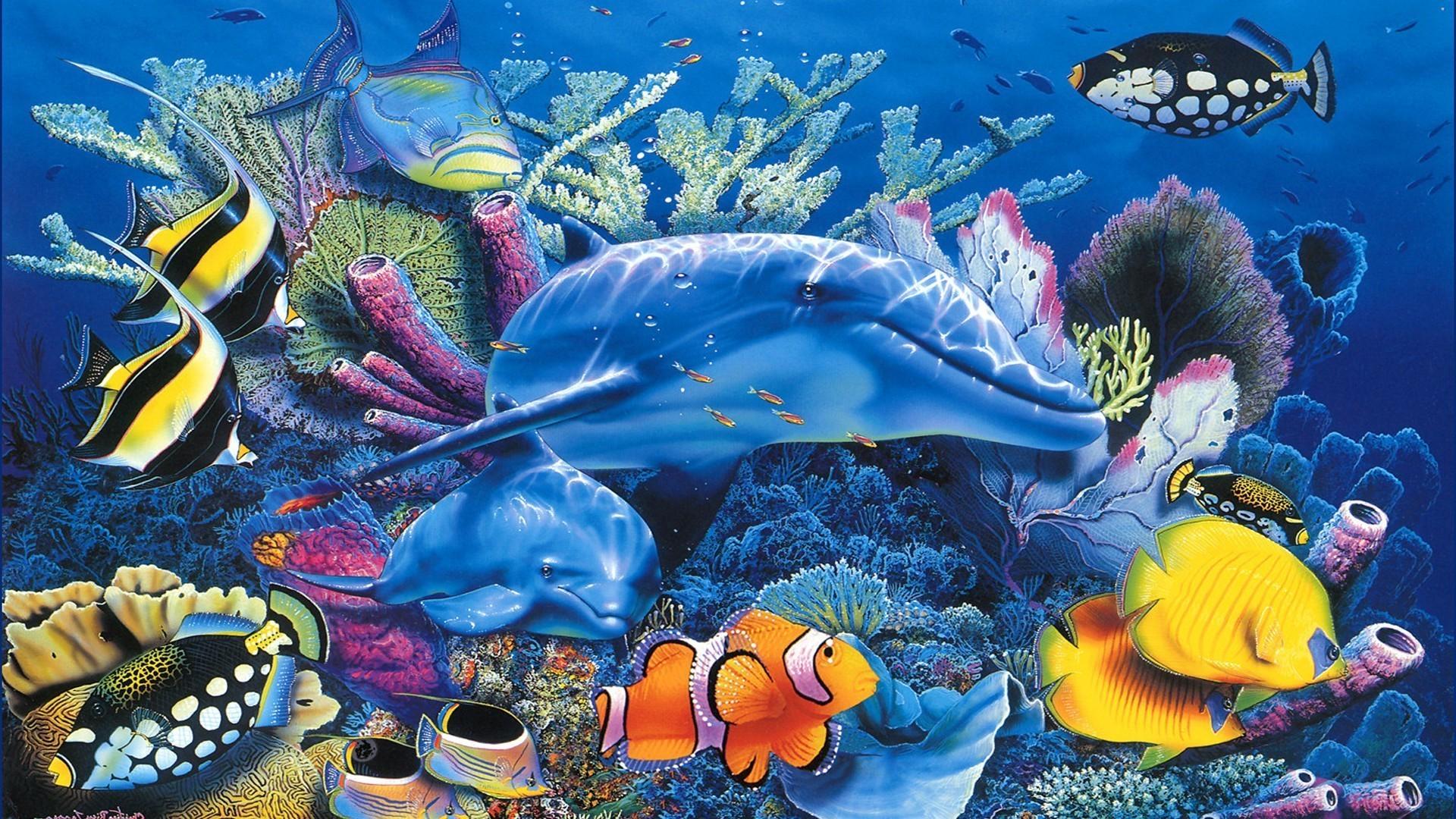 Яркие краски подводного мира  № 618937 бесплатно