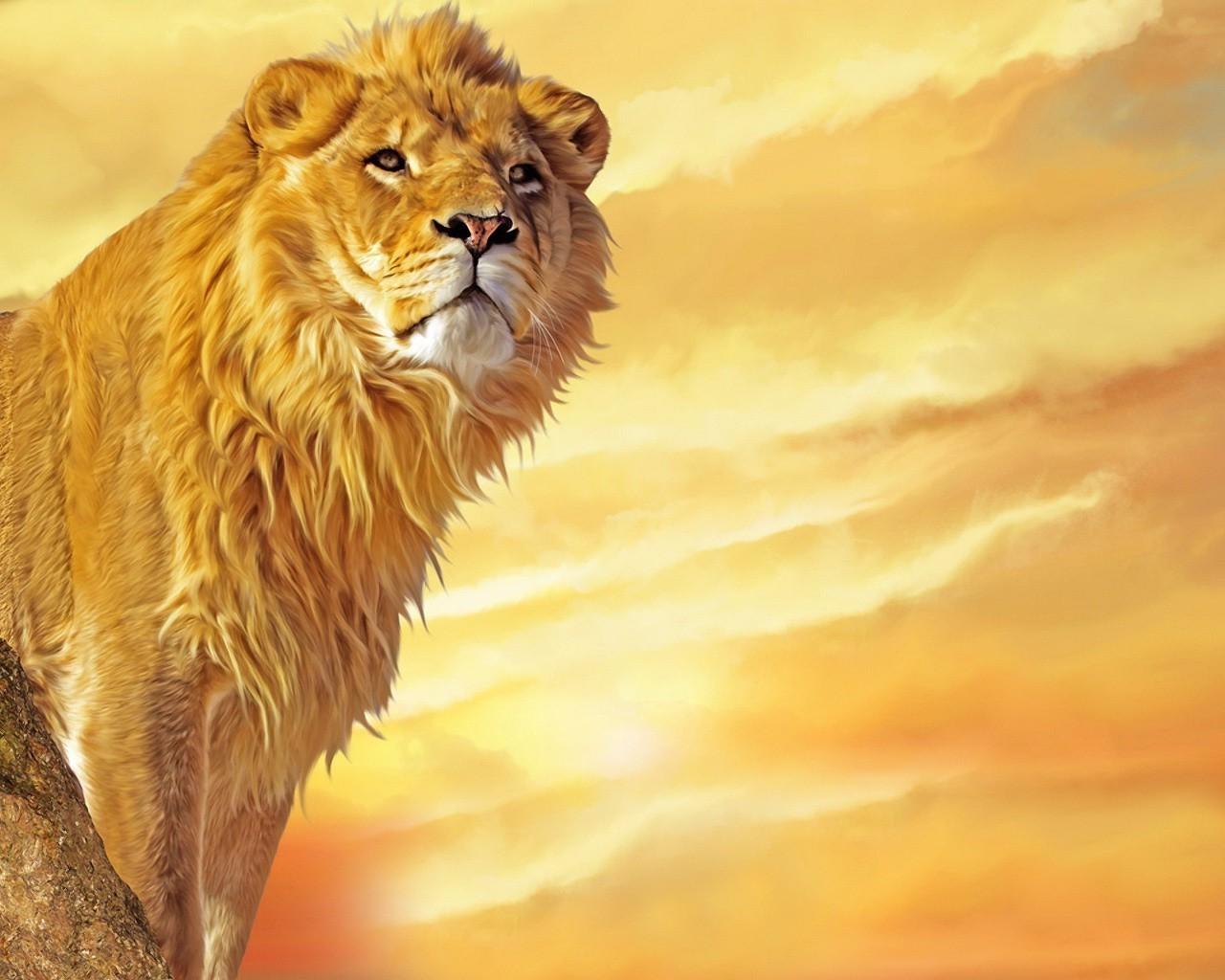 Открытки с львами
