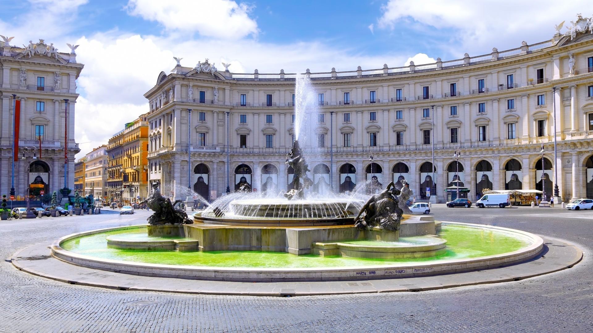 Италия фонтан наяд рим скачать обои