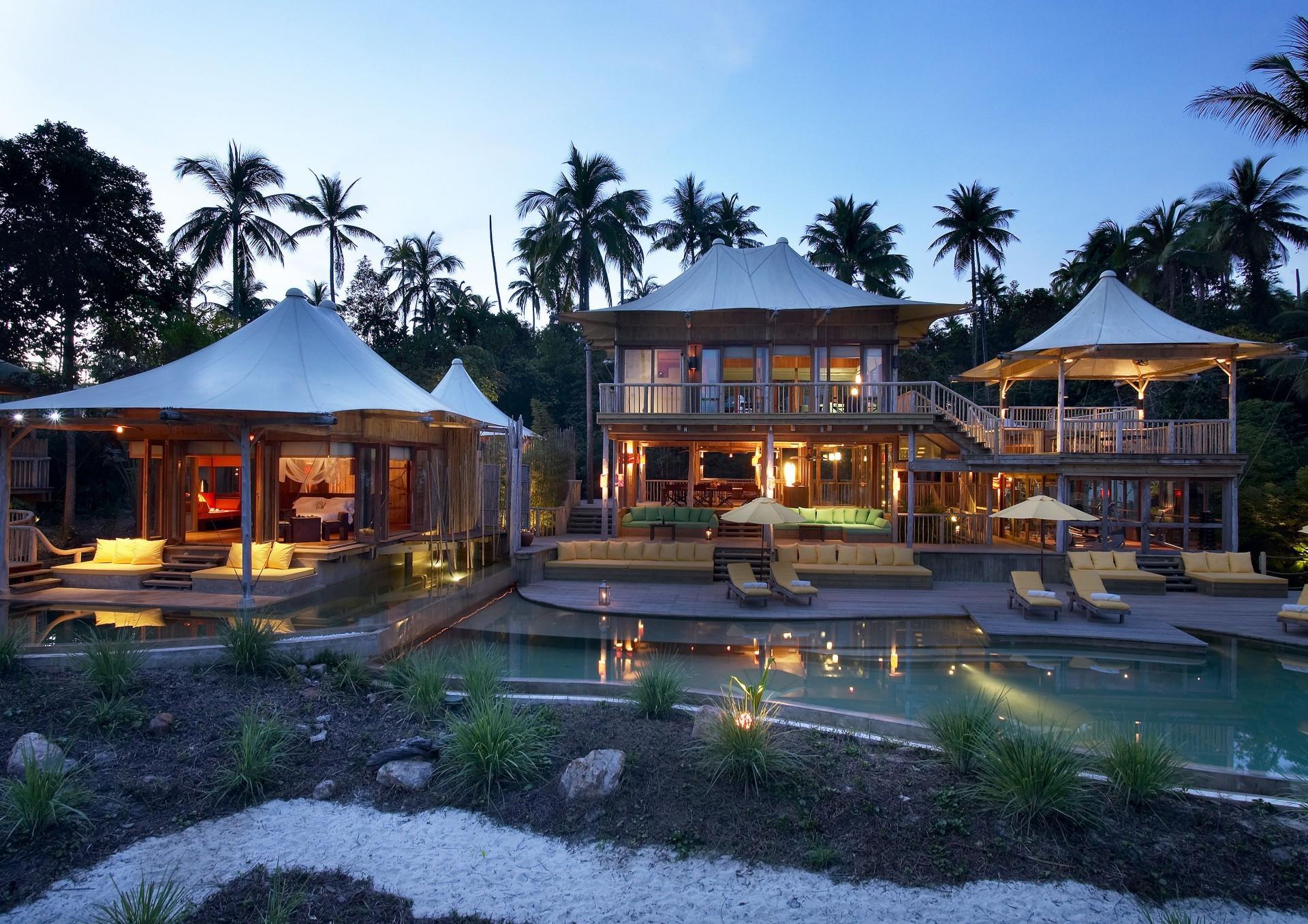 Картинки с домами на пляже