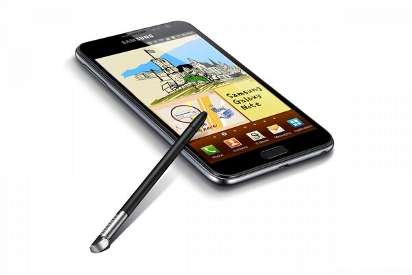 Samsung Galaxy Note - с ручкой