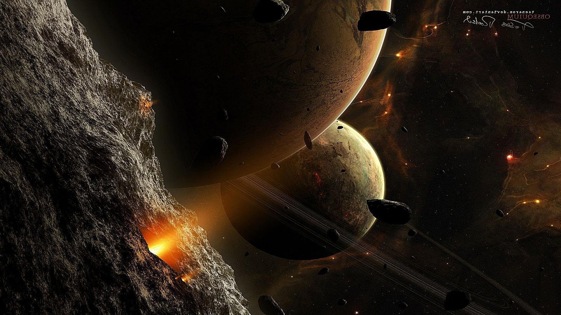 обои для рабочего стола космос метеориты № 610684  скачать