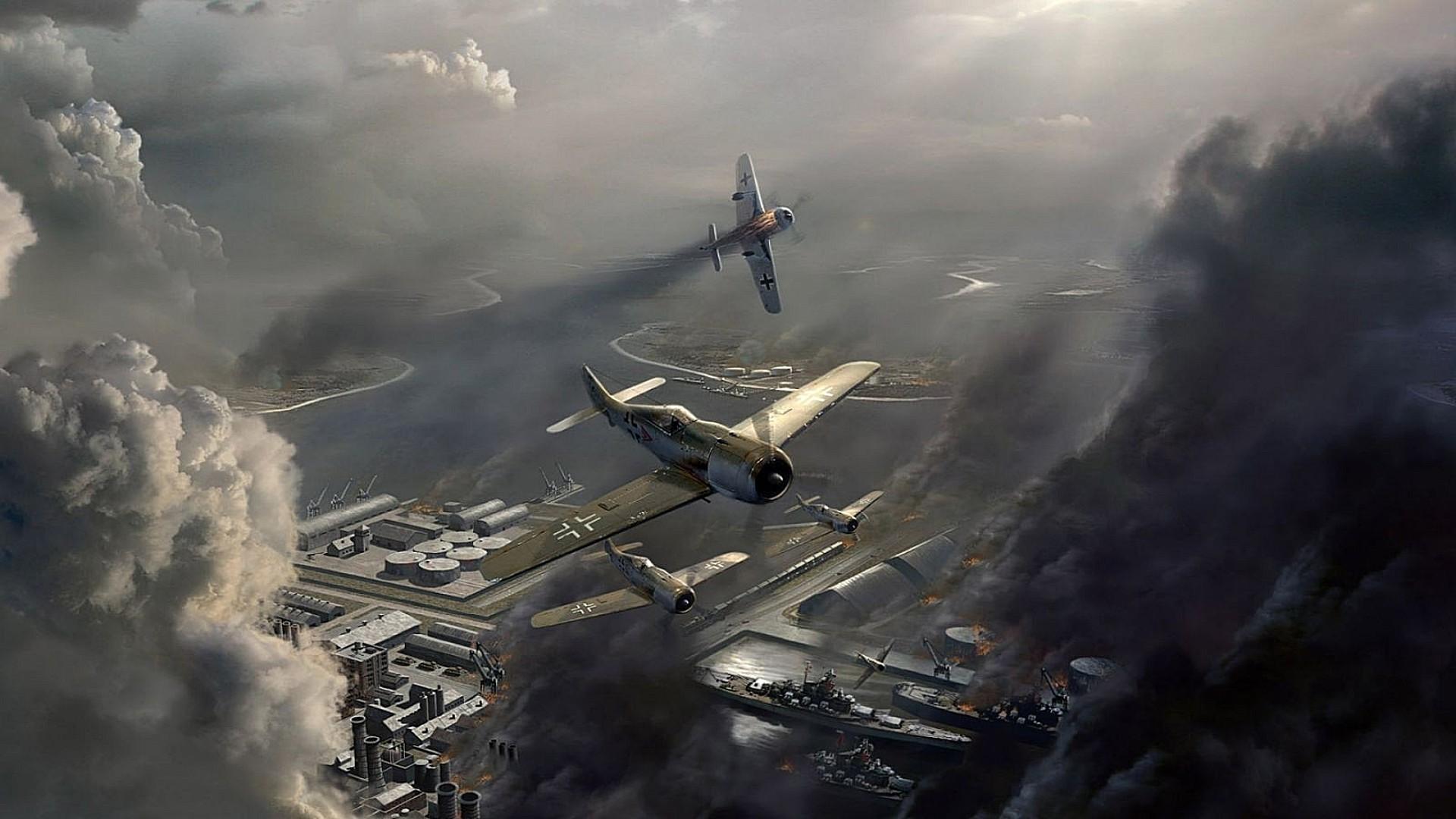 Обои Самолёт, fighting falcon, вираж, истребитель, Пейзаж. Авиация foto 19