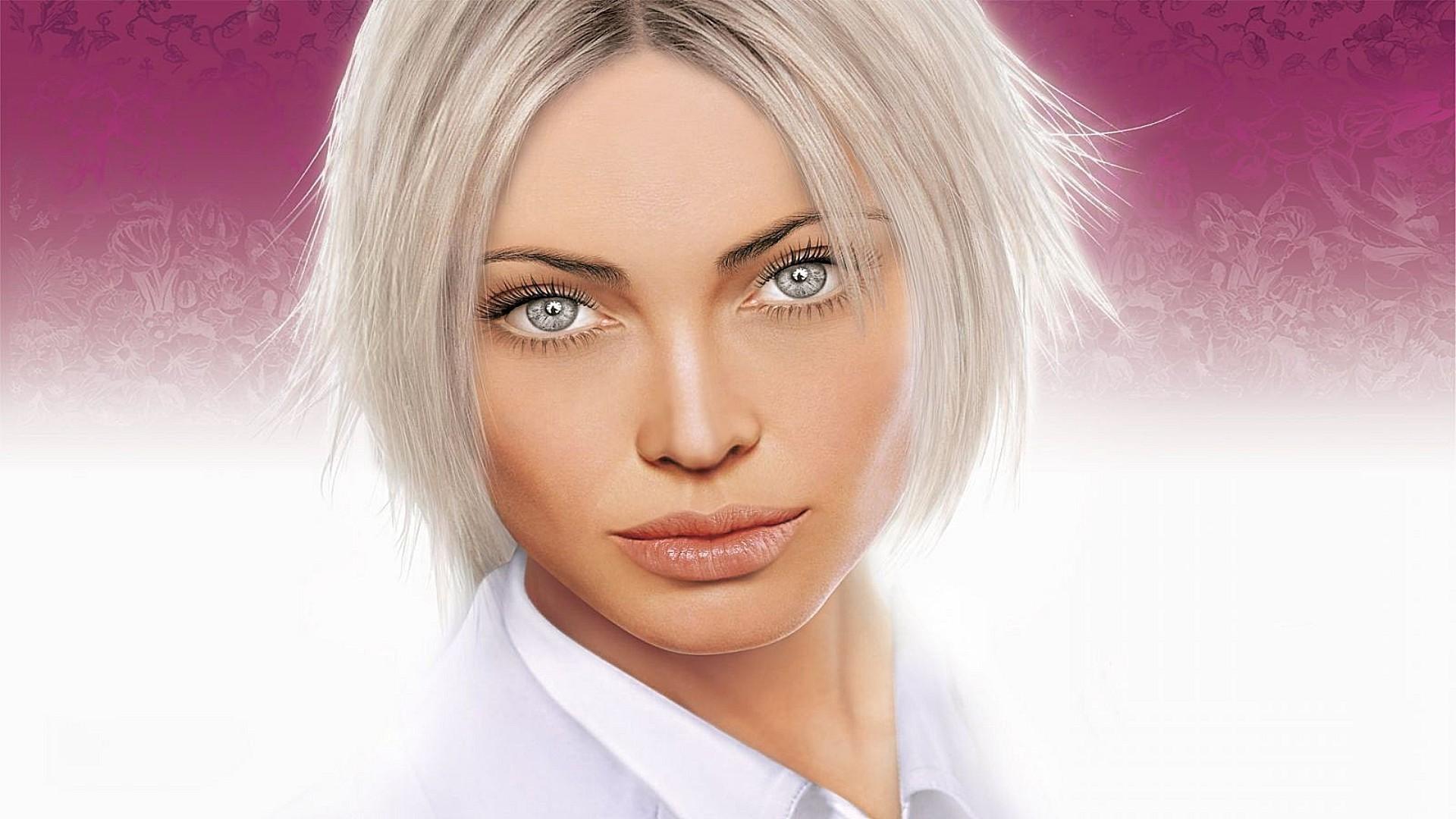 блондинка с серыми глазами фото: