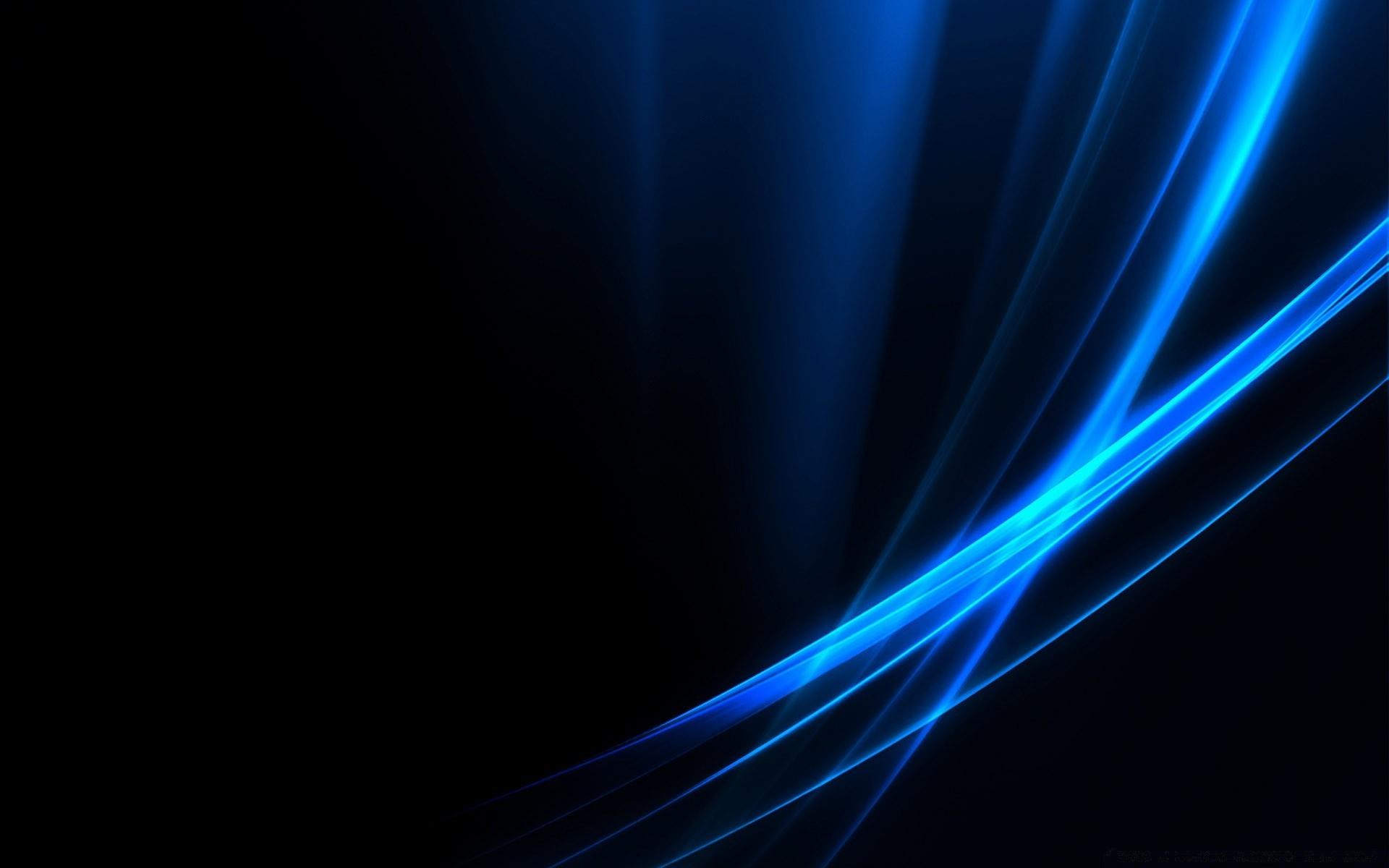 Абстракция голубая черный фон скачать