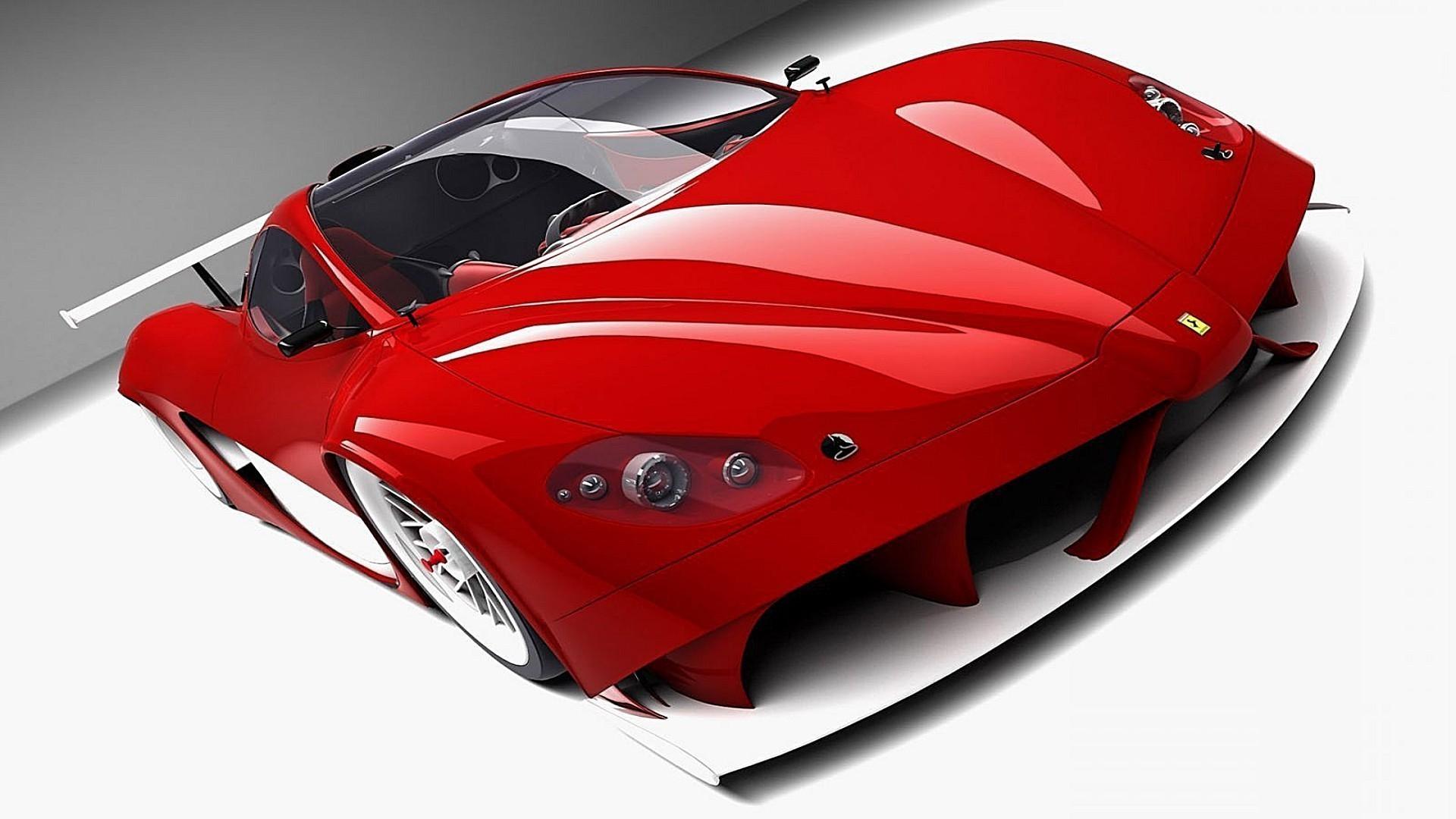 красный автомобиль спортивный ferrari red car sports онлайн