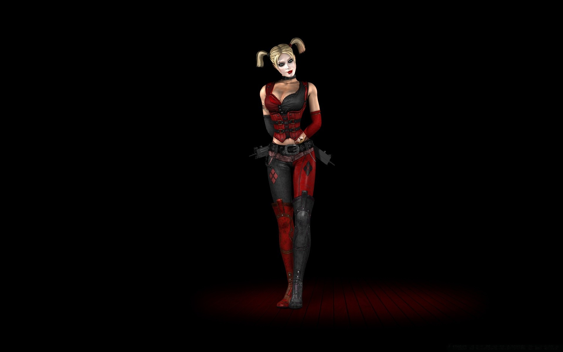 Harley Quinn Batman Arkham City HD desktop wallpaper