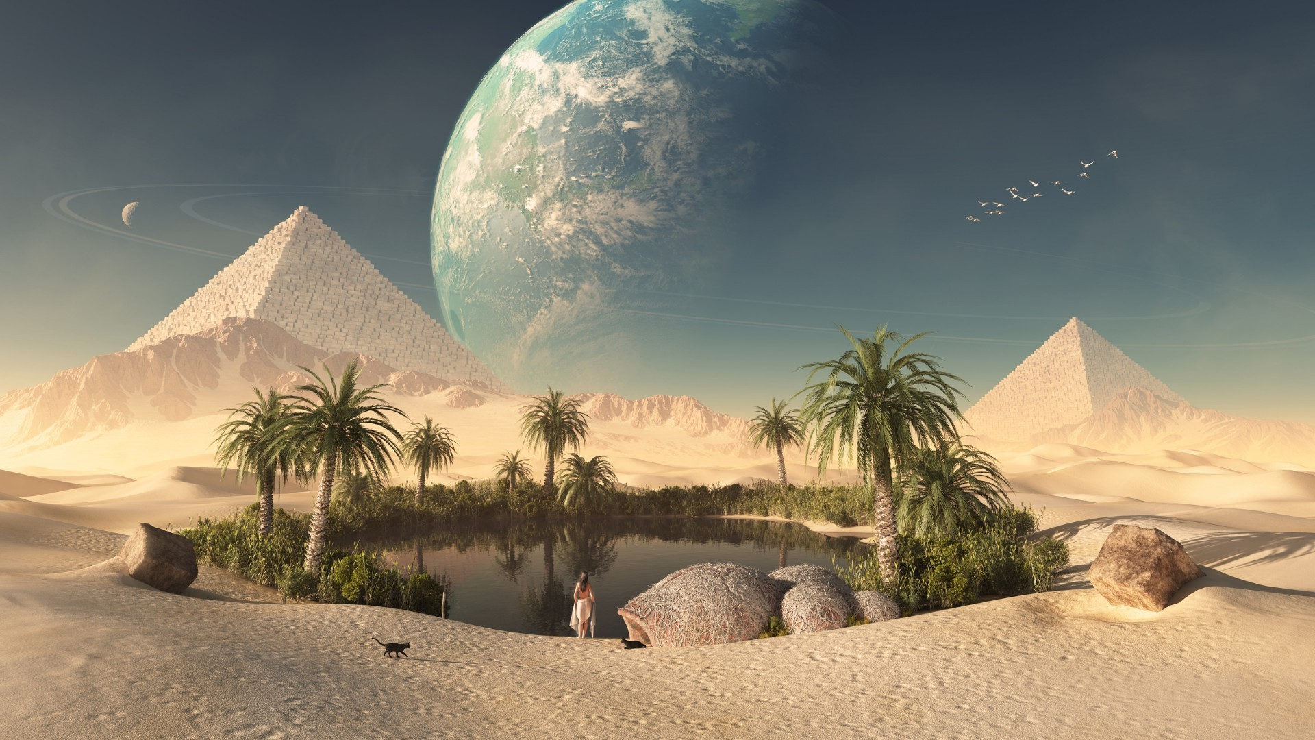 красота пустыни в картинках фэнтези