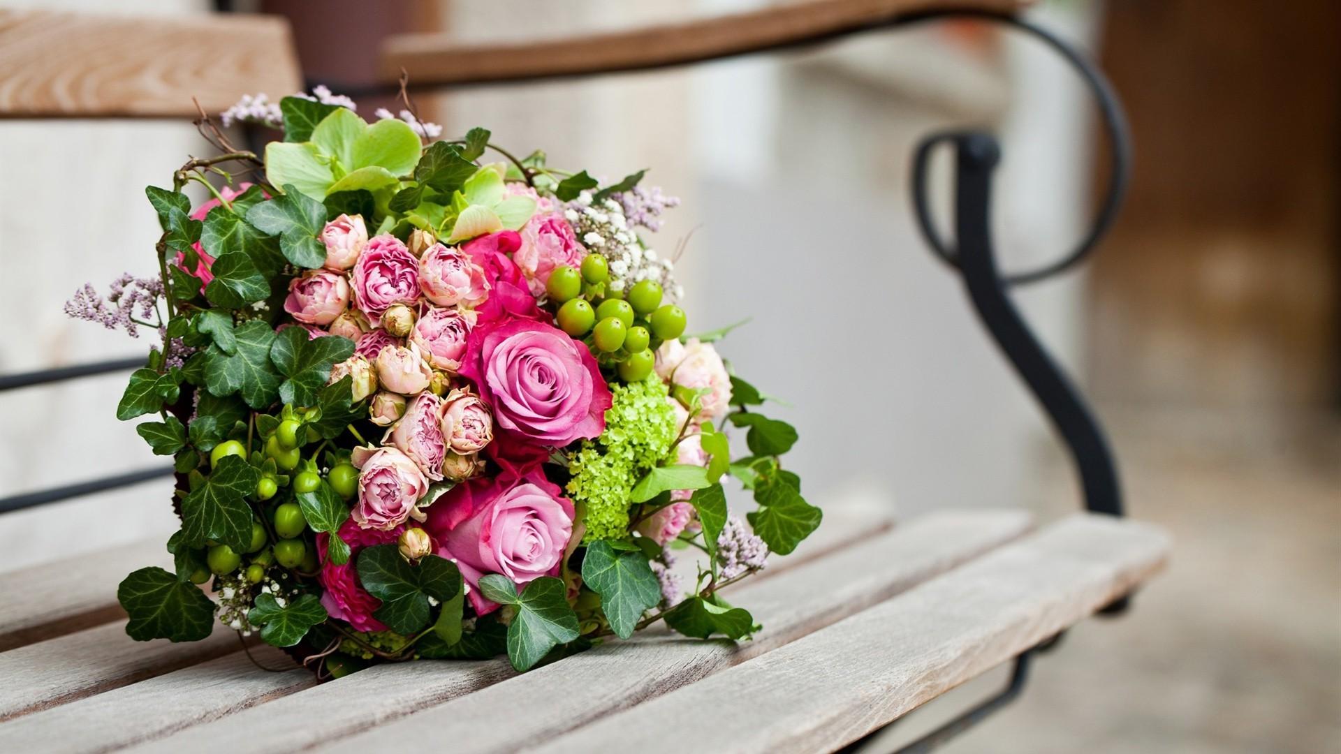 картинки на рабочий стол букет цветов