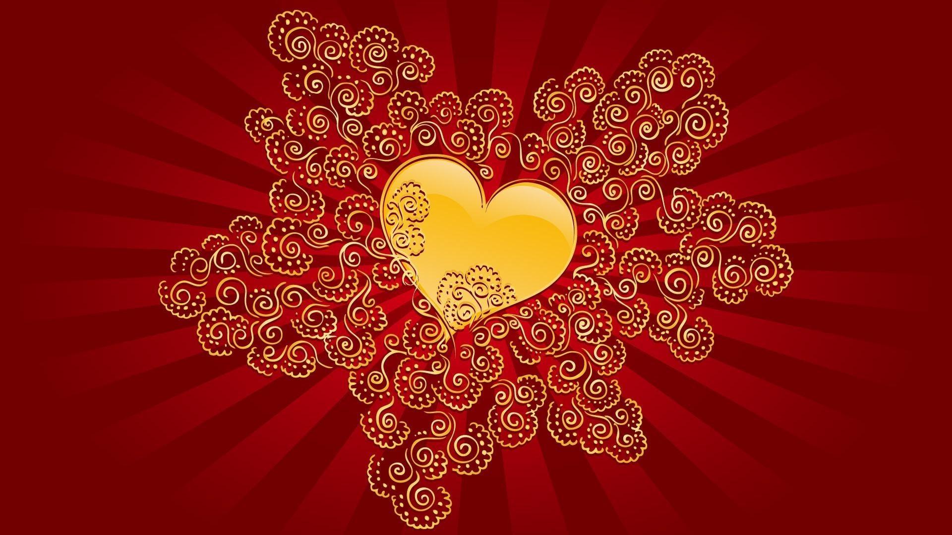 Открытка с сердцем и любовью