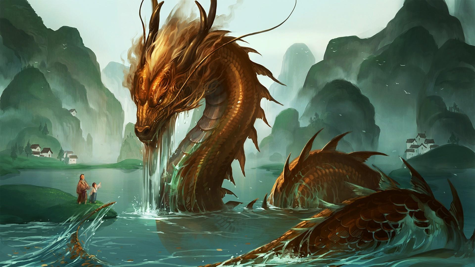 обои восточные драконы для рабочего стола № 598079  скачать
