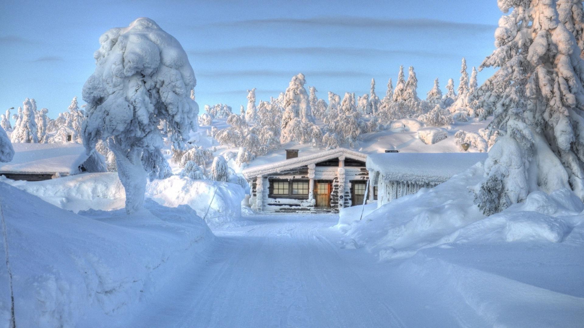 дом зима снег загрузить