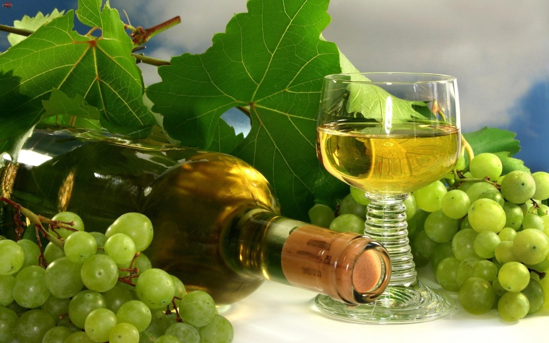 Виноград вино и цветы 12