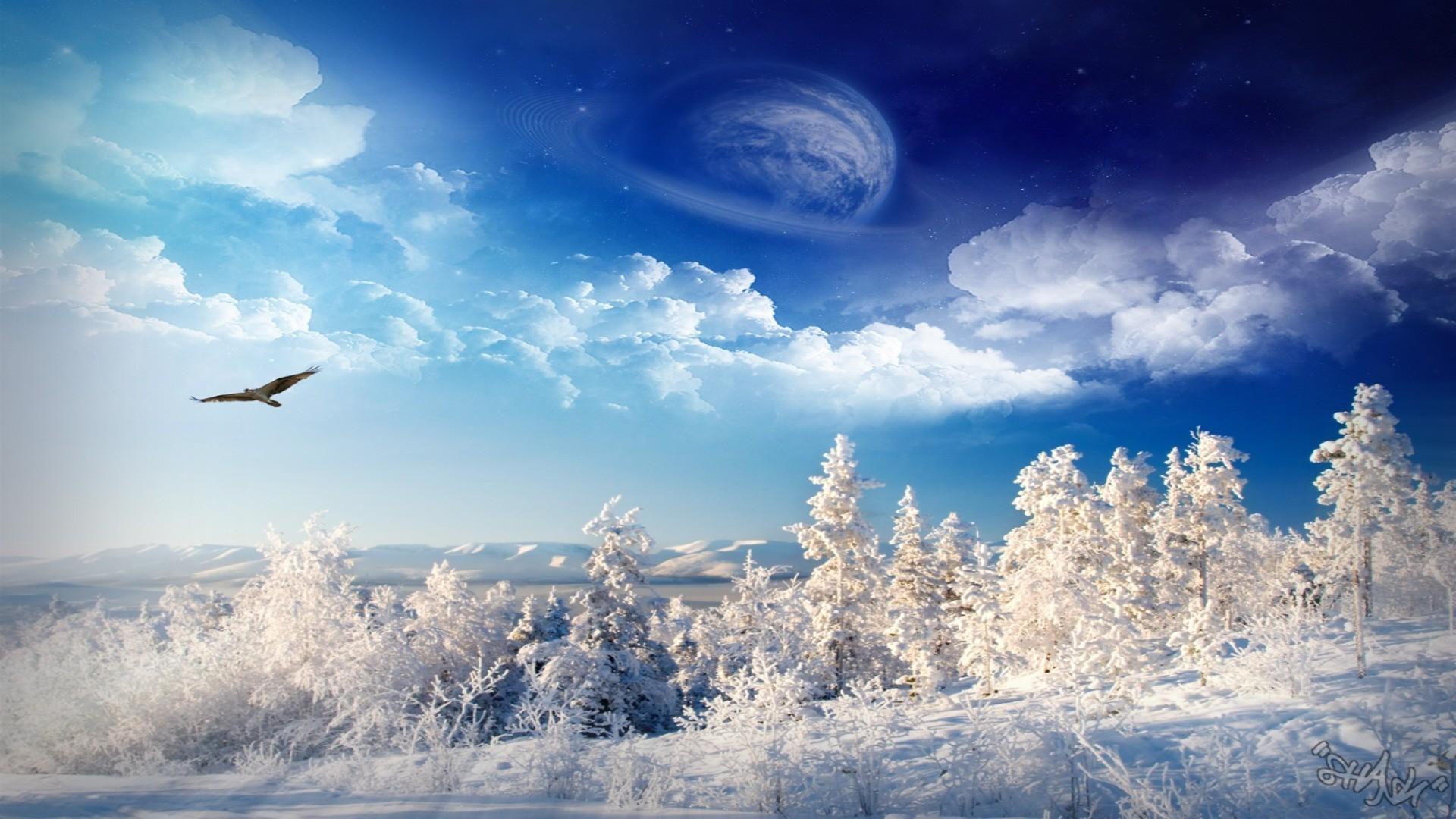 безболезненная, картинки на рабочий стол небо солнце снег трахает