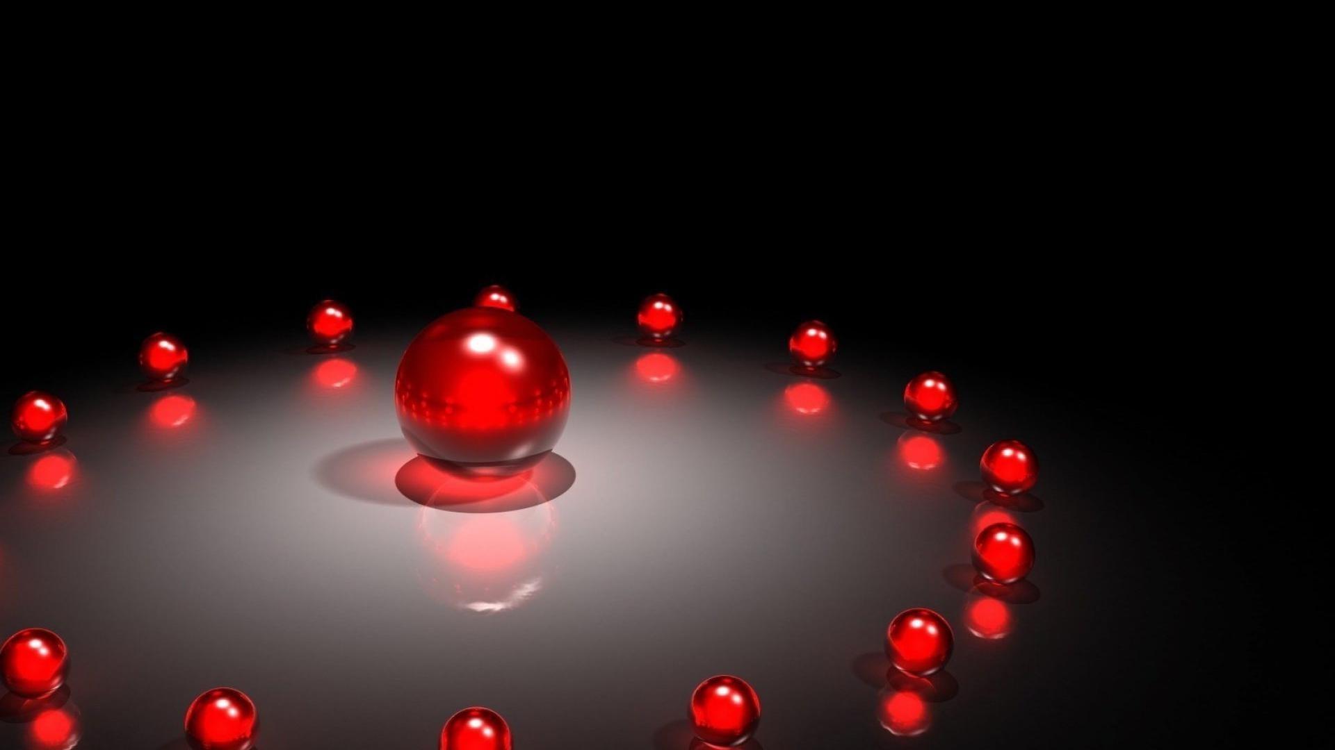 26de8923499 Красные шары - обои для рабочего стола.