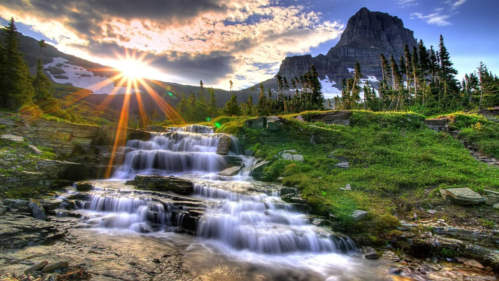 Обои красиво, Горная река. Природа foto 12