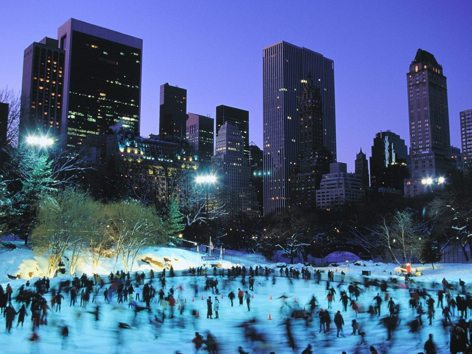 картинка на рабочий стол зима мегаполис создает
