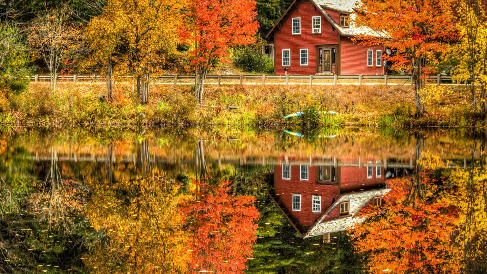 картинки осень на загородном доме влага, которая