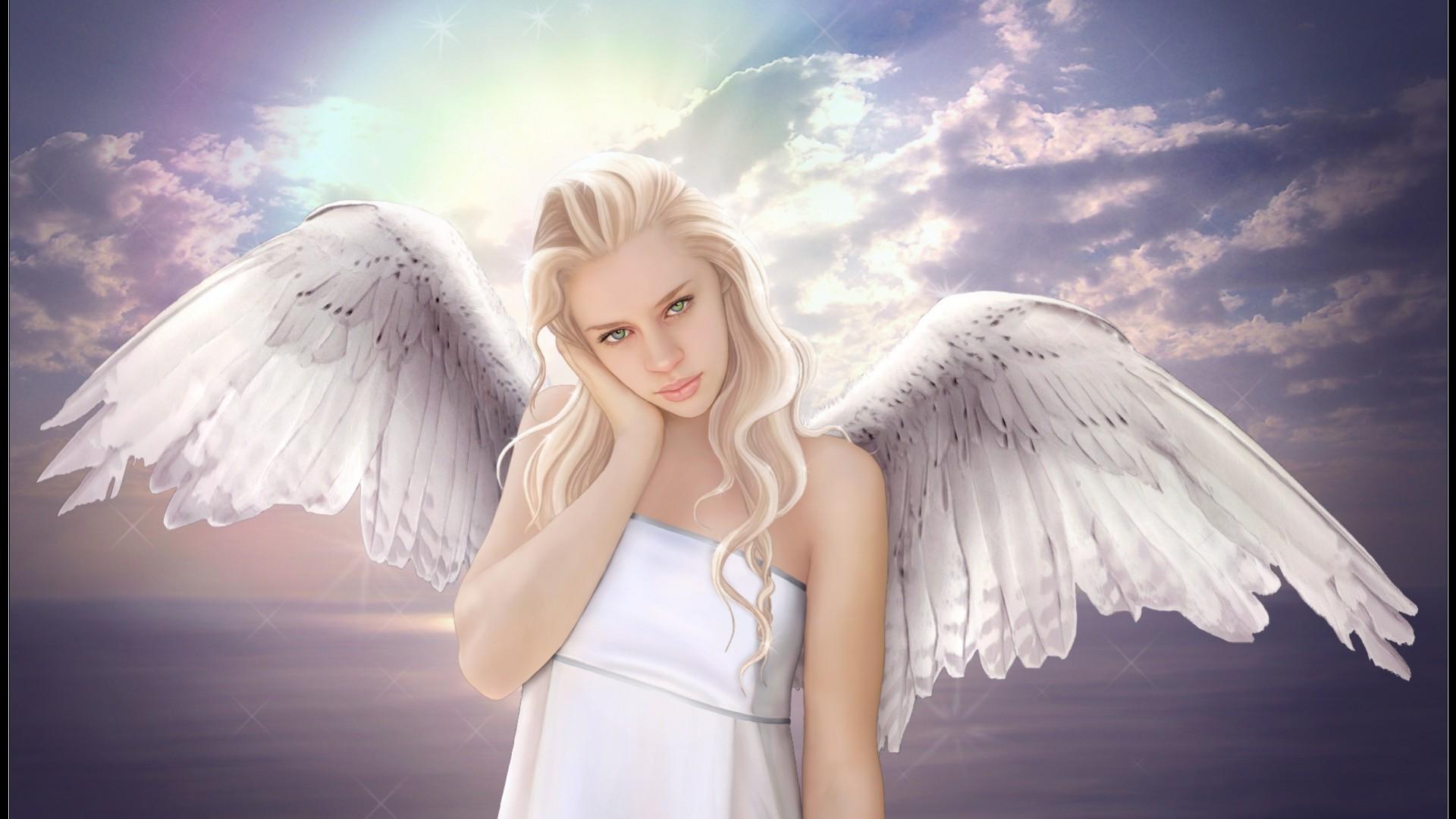 Картинки на рабочий стол большие ангелы