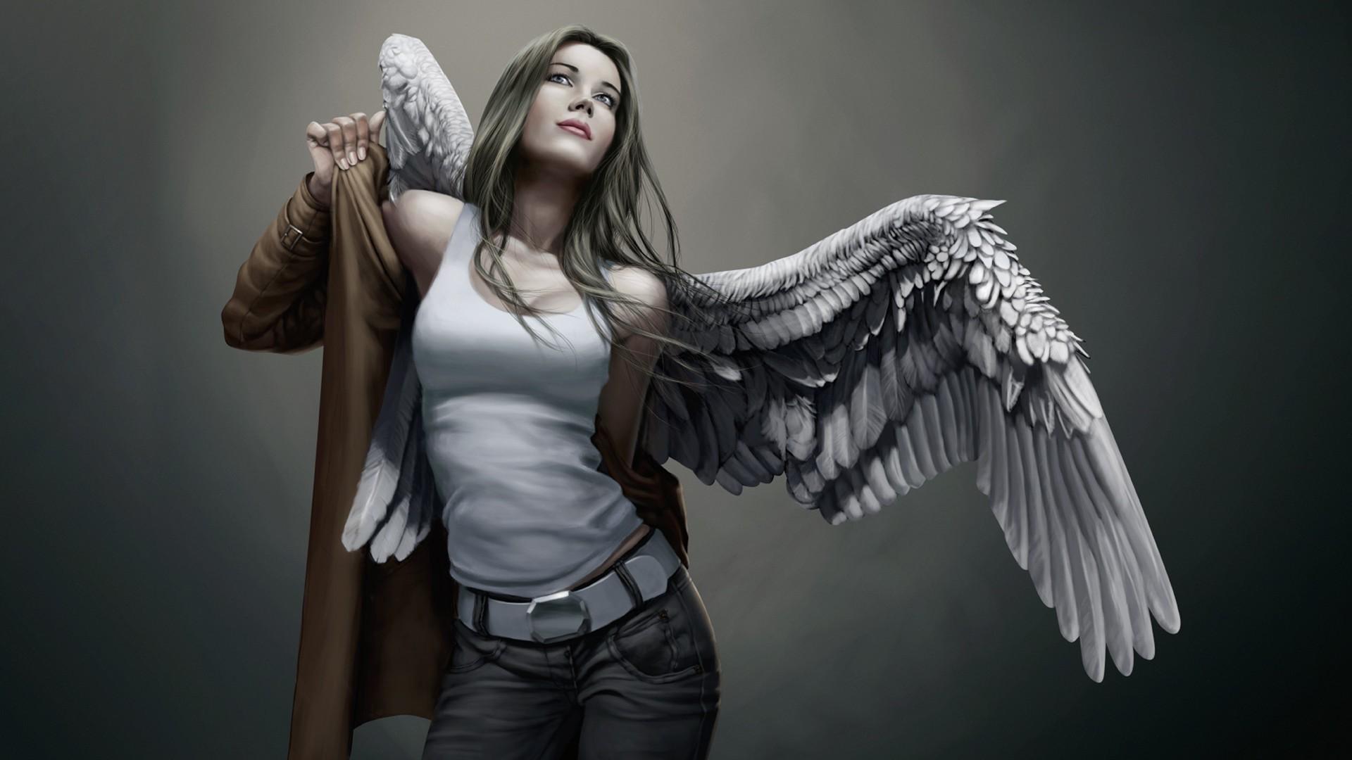 Обои на рабочий стол ангелы искусство