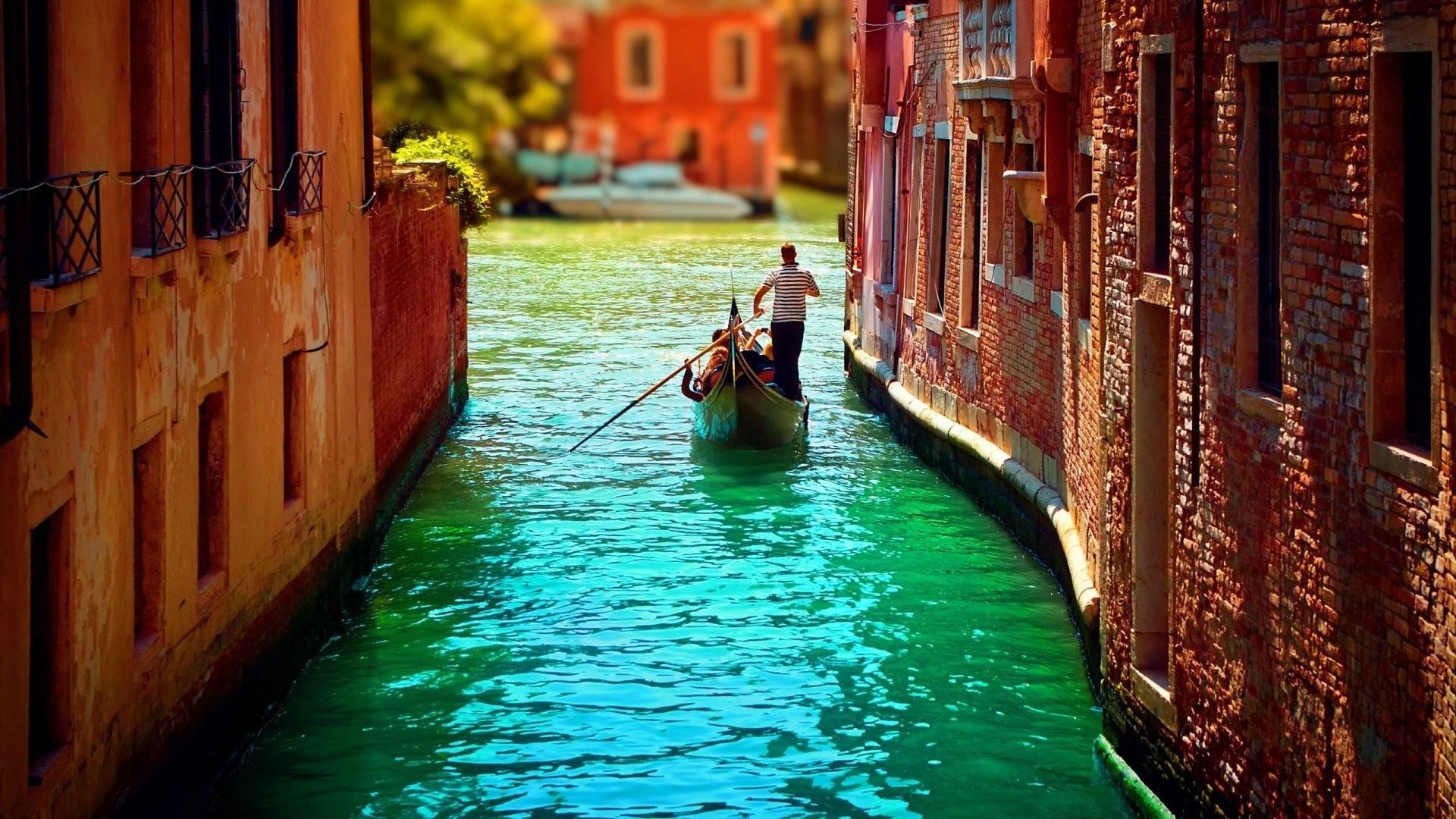 Обои канал, лодки, венеция, мосты, дома, улицы. Города foto 19