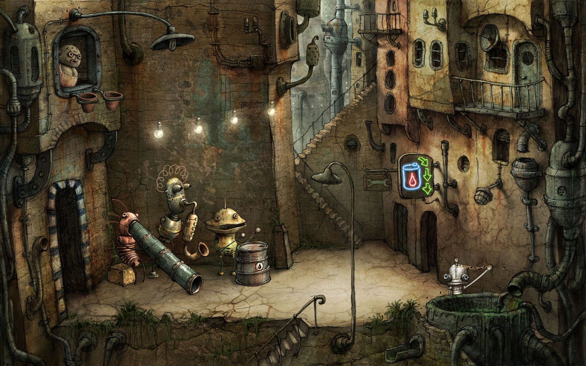 Аллея, Machinarium игра