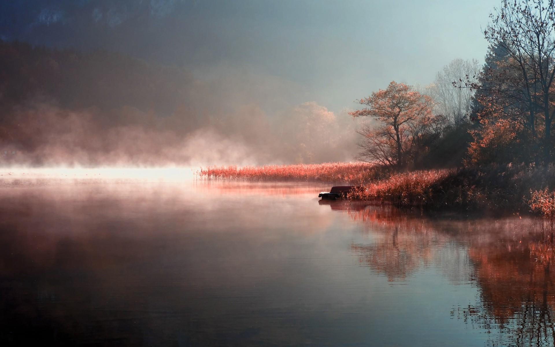 Туман вдоль реки  № 1281343 без смс