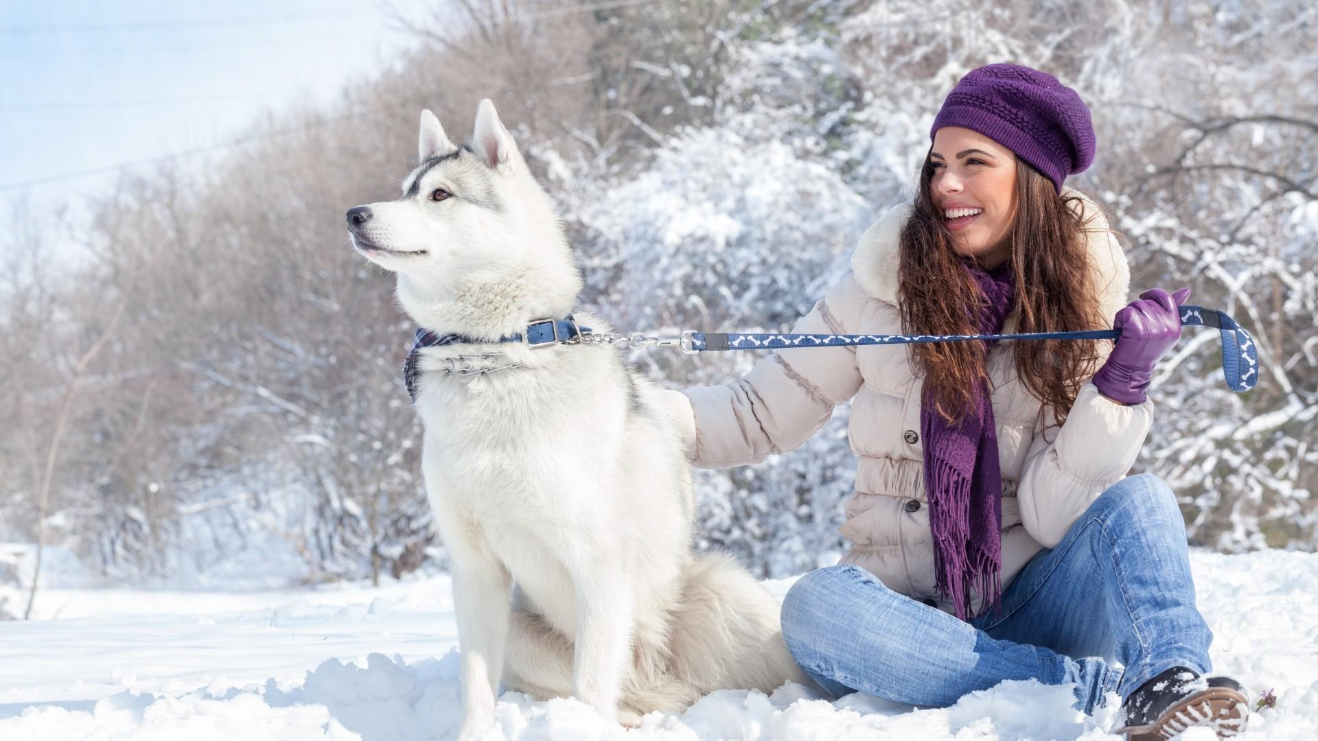 девушка брюнетка зима снег winter snow  № 2816718 бесплатно