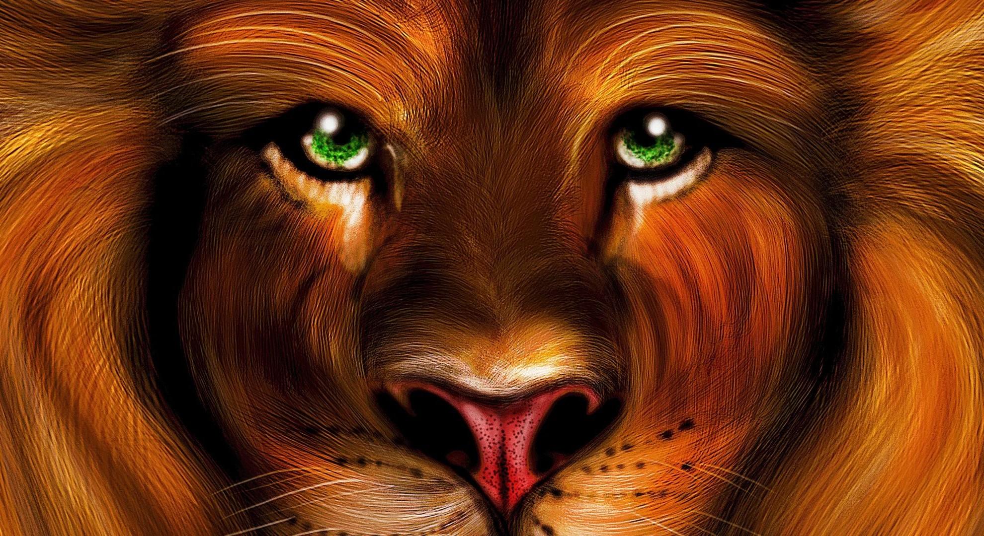Обои на рабочий стол глаза льва