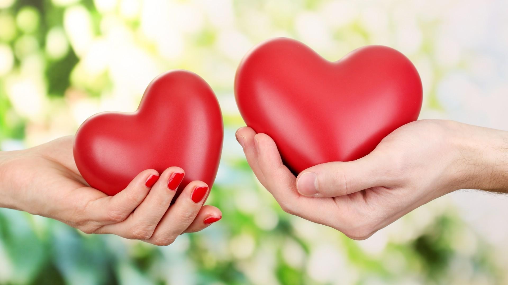 Обои рабочего стола сердце в руках