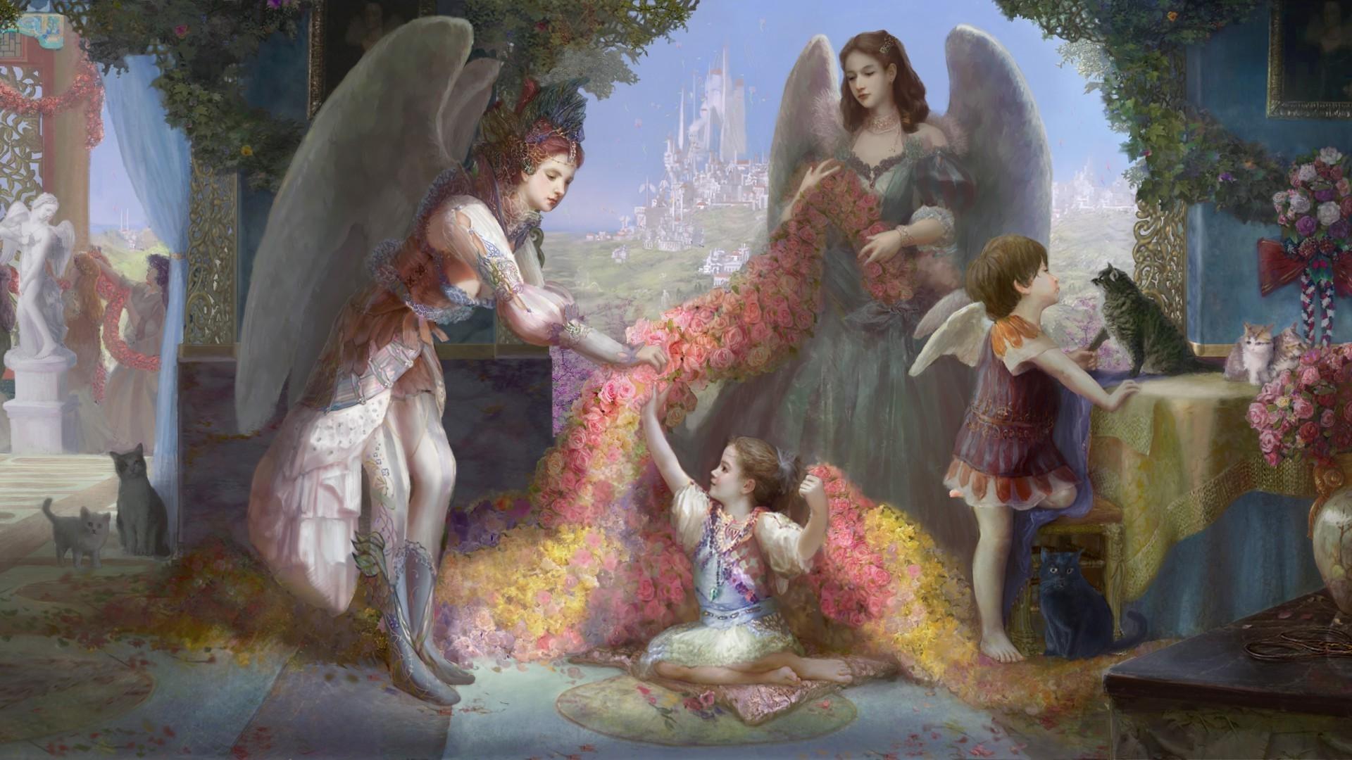 Картинки на рабочий стол с изображением ангела