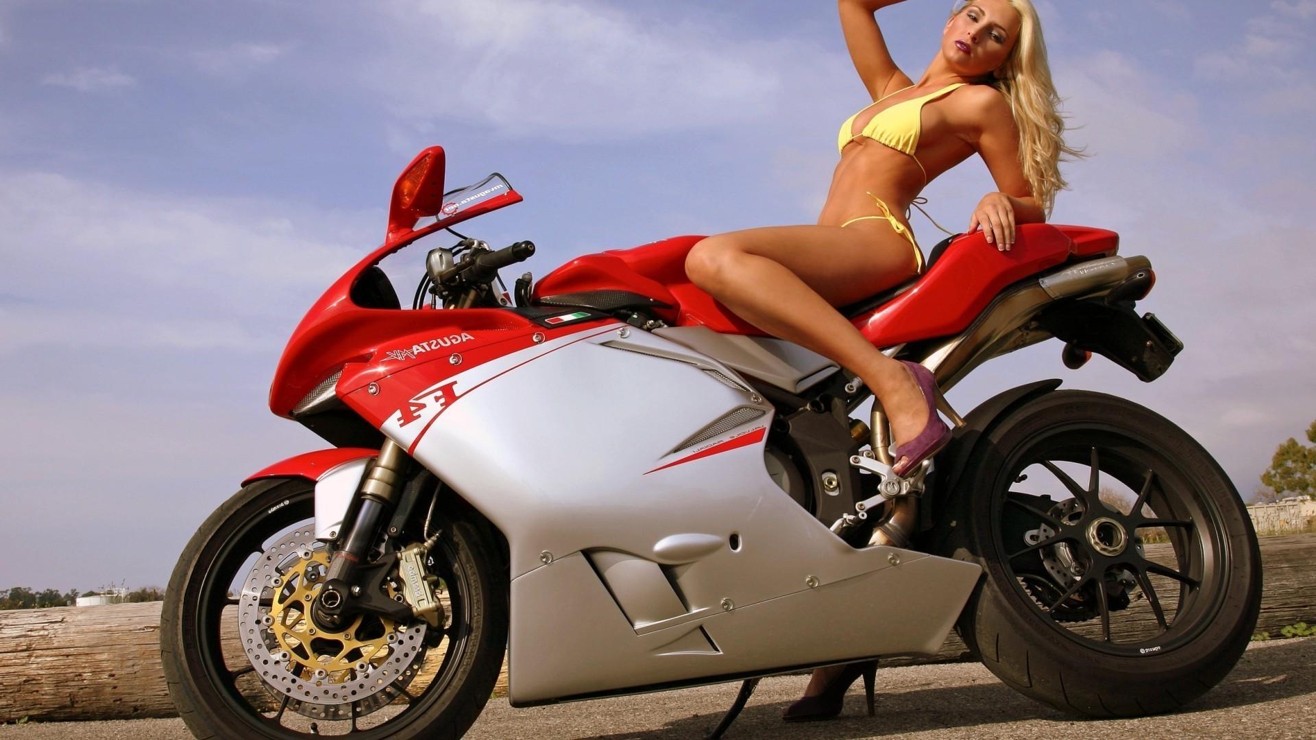 Фото девушек на байках, Прекрасные девушки на шикарных мотоциклах (80 фото) 23 фотография
