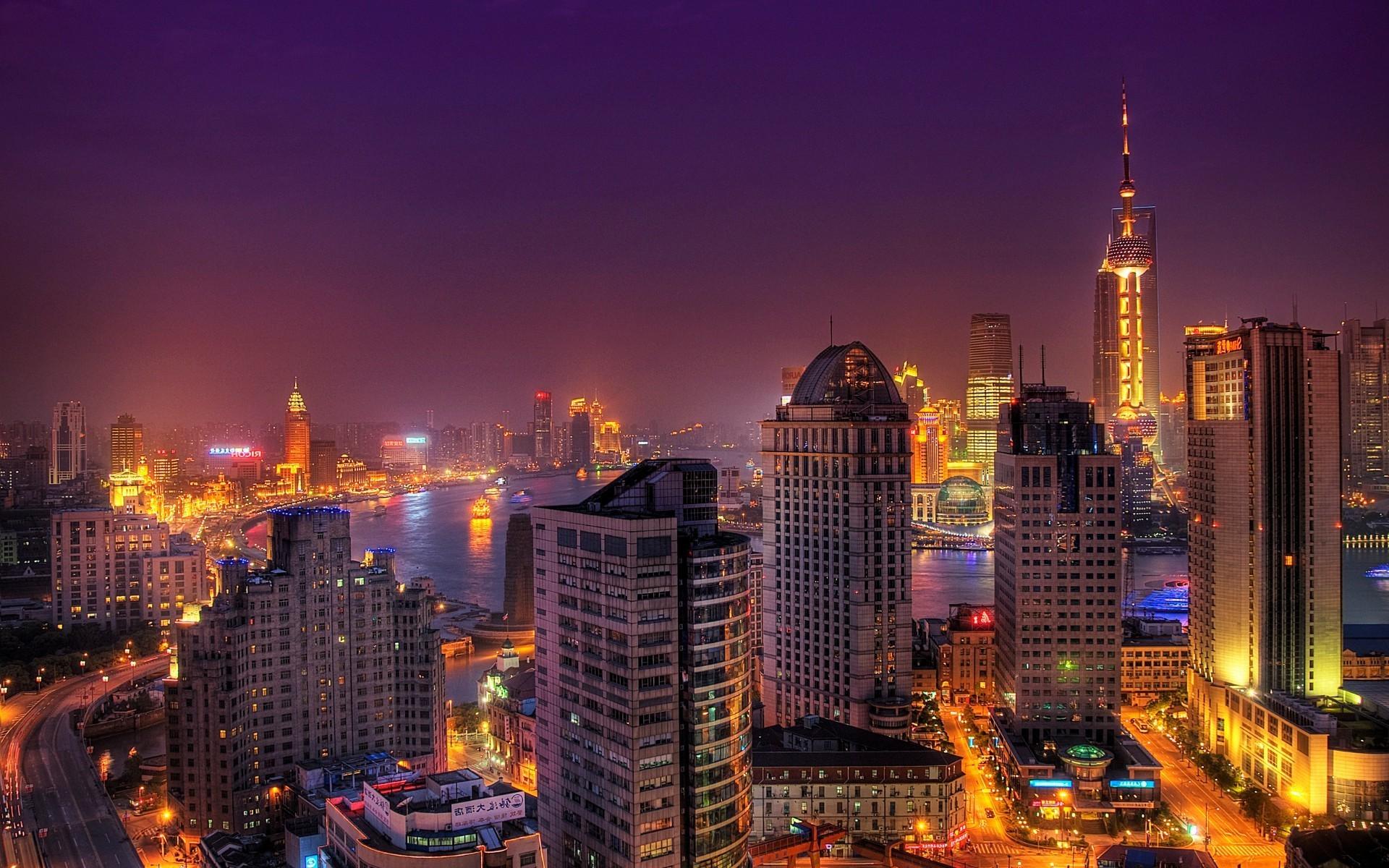 Обои небоскребы, китай, дома, улицы, шанхай, дороги. Города foto 12