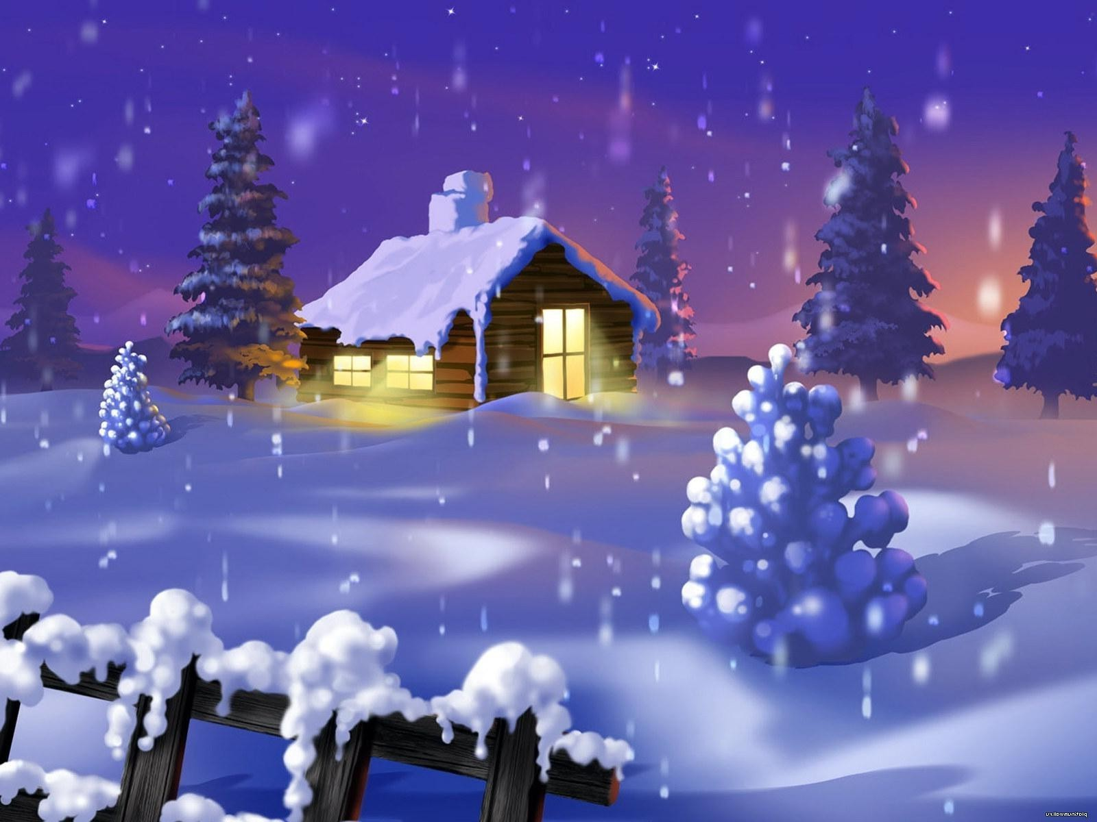 Именниником, открытки снег идет