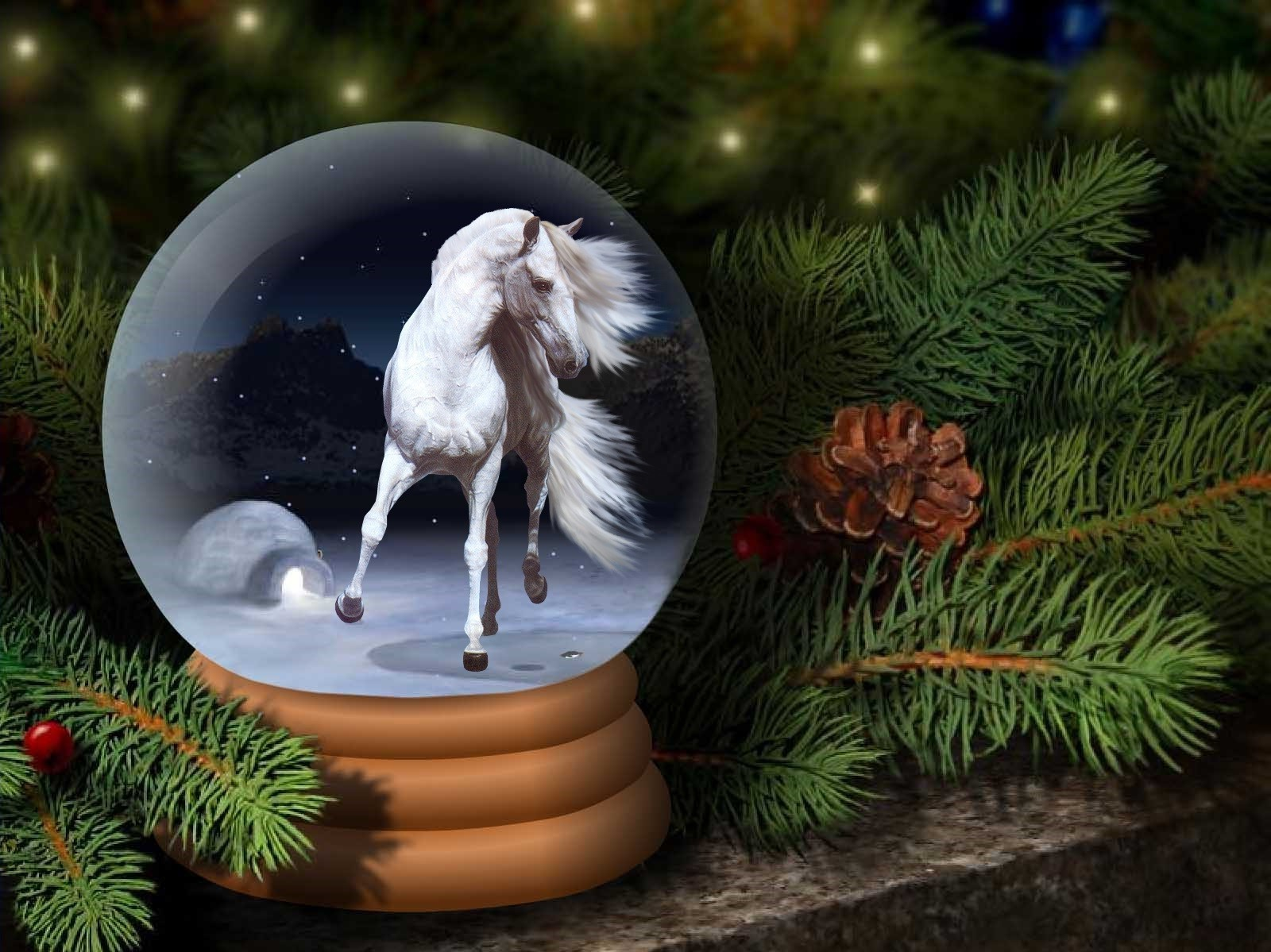 Вероники, картинки новый год лошади