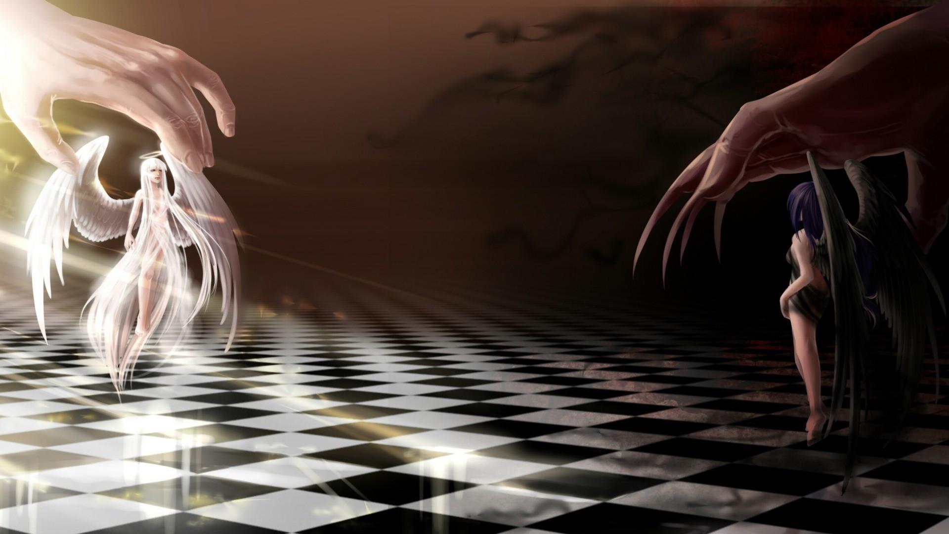 играют карты в и демон ангел