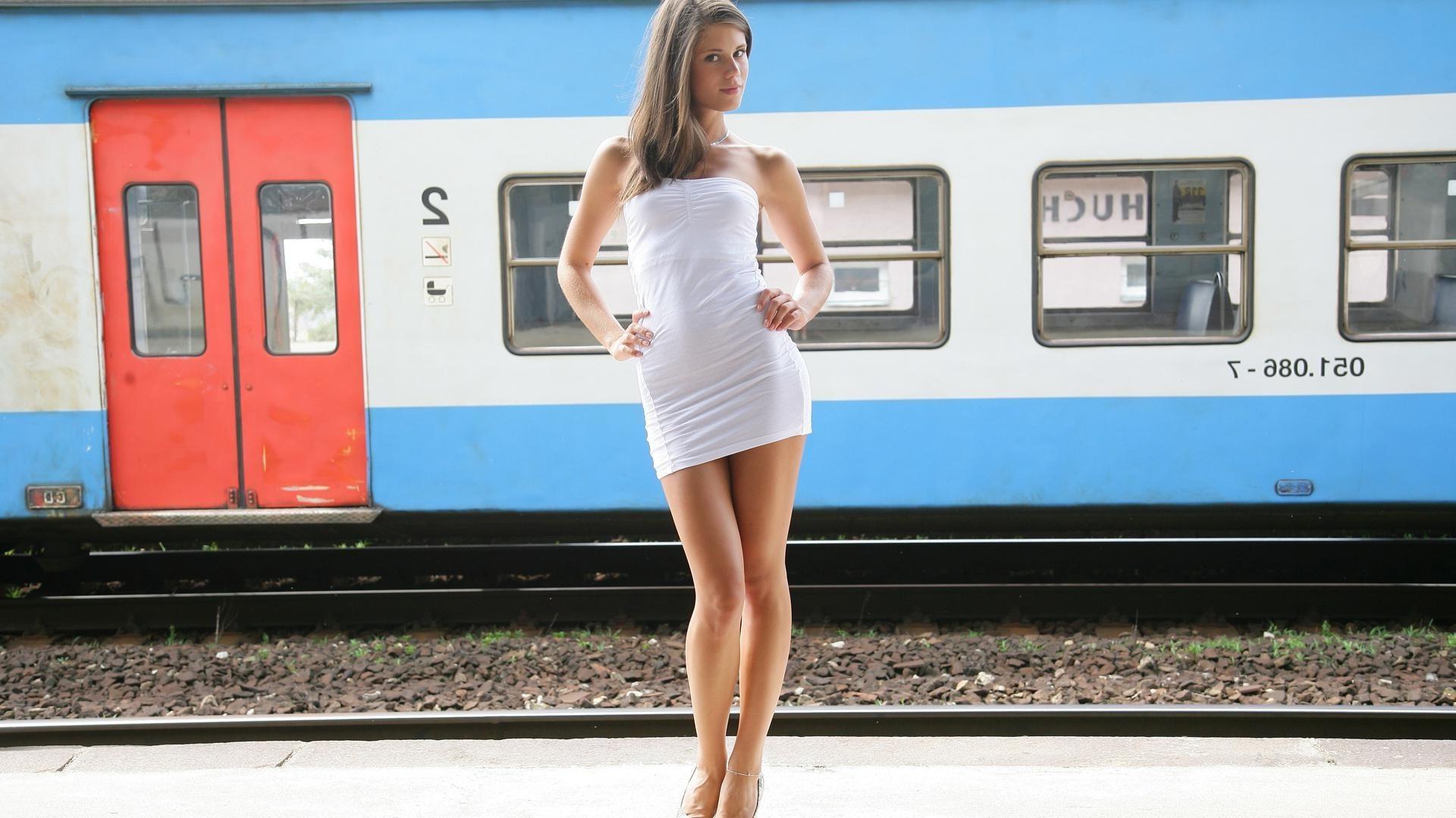Порно caprice в поезде