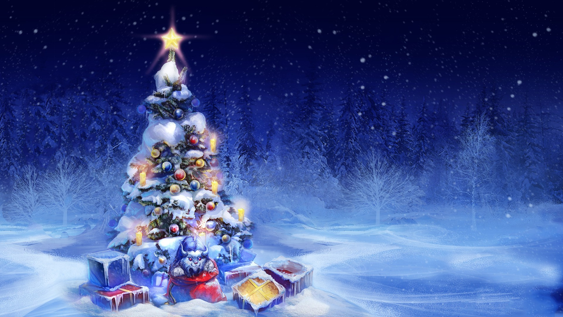 Новогодняя елка в лесу - скачать обои ...: million-wallpapers.ru/wallpaper/novogodnyaya-elka-v-lesu/id/48431
